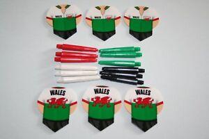 6 Sets Wales Dart Flights   4 Sets Short Black Stems - Burton-on-Trent, United Kingdom - 6 Sets Wales Dart Flights   4 Sets Short Black Stems - Burton-on-Trent, United Kingdom