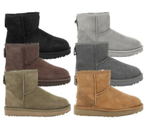 UGG-AUSTRALIA-W-CLASSIC-MINI-II-Boots-Stiefel-Gefuttert-Damen-Women-Winterschuhe
