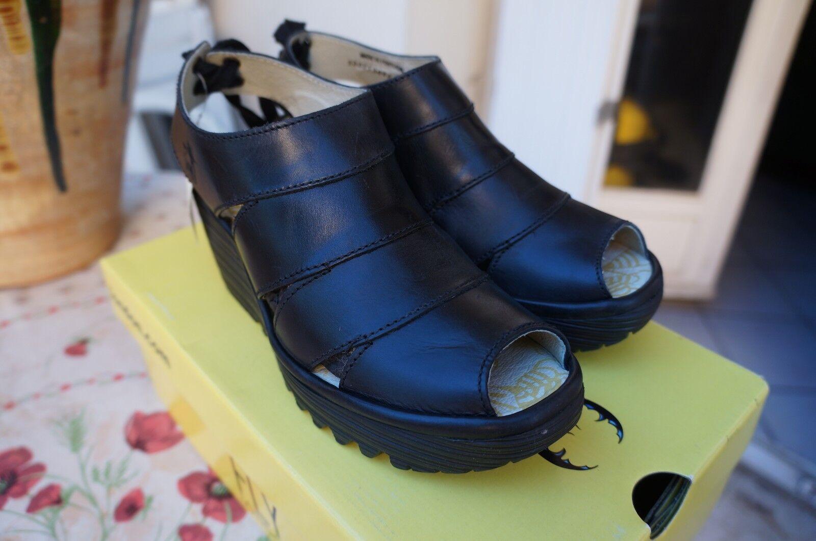 Último gran descuento FLY London Yown,sandales , Ballerines femme, Noir (Rug Black), 37 EU