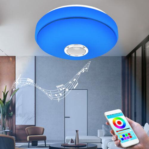 LED RGB Smart Deckenleuchte Deckenlampe Bluetooth Musik App Control Wohnzimmer
