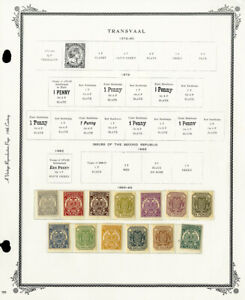 Transvaal-Clean-Mint-1800s-to-1906-Stamp-Collection