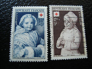 FRANCE-timbre-Yvert-et-Tellier-n-914-915-obl-A3-stamp-french