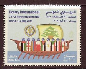 Liban-liban Neuf Sans Charnière Sc # 630-rotary International Beyrouth