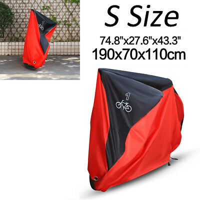 74/'/' S Size Black/&Red Bicycle Bike Cover Outdoor Rain Dust Protector For 1 Bike
