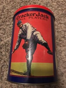"Vintage Cracker Jack Popcorn Container Tin 1992 Nostalgia Pictures 3rd of 4 8""x6"