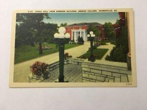 Vintage-Postcard-Unposted-Linen-Yonah-Hall-Brenau-College-Gainesville-GA