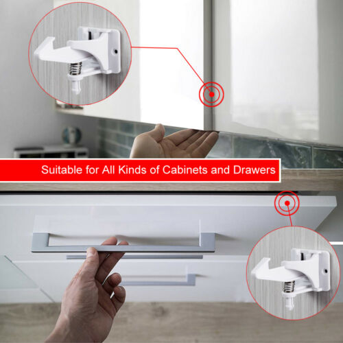 Lots of Cabinet Locks Child Safety Latches Baby Proofing Cabinets Drawer Lock