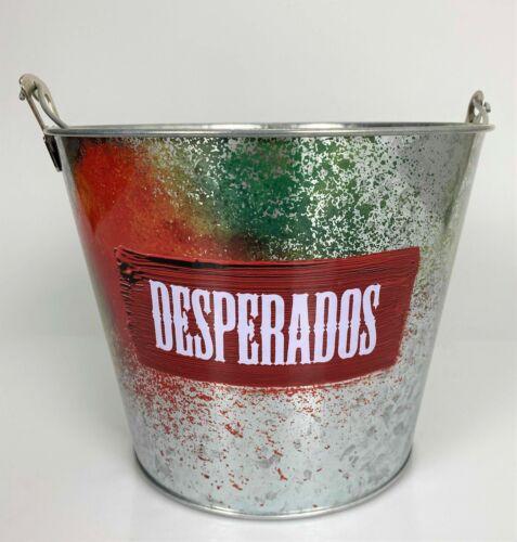 Desperados Bier Kühler Metall Eimer Neu verzinkt Eiswürfel Flaschen rotes Logo