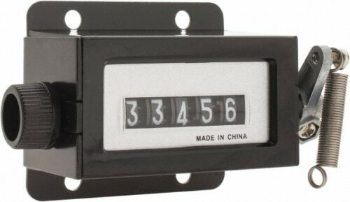 Counter 1-1//4 Inch... Rotary Knob Reset Value Collection 5 Digit 4 Hole Mount