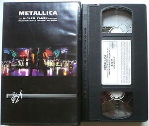 METALLICA-S-amp-M-VHS-gt-Michael-Kamen-San-Francisco-Symphony-Orchestra