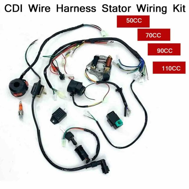 Wire Harness Stator Wiring Kit Cdi For 50  70  90  110cc