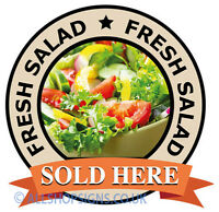 FRESH SALAD SOLD HERE Catering shop Sign Window sticker Cafe Restaurant decal