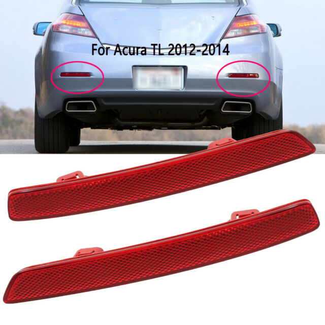 Passenger Side Bumper Reflector For 12-14 Acura TL
