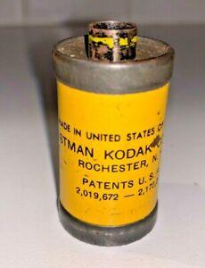 A vintage Kodak yellow 35mm KodaChrome film canister, 1950s - vintage !