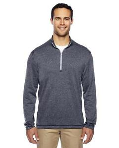 New-With-Tags-Men-039-s-Adidas-Athletic-Gym-Brushed-Terry-Heather-1-4-Zip-Jacket