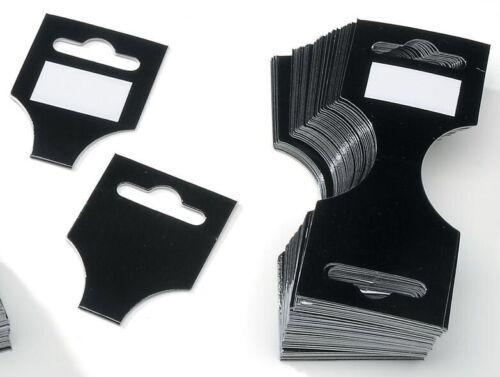 96 Black Wrap Header Cards For Necklace /& Bracelet Display