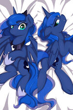 Dakimakura Anime My Little Pony Blue Pillow Case Body  Hugging Cover#654