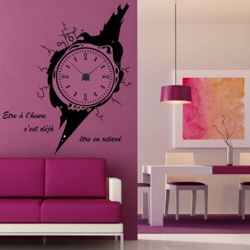 Sticker mural Horloge géante MONTRE DESIGN avec mécanisme aiguilles