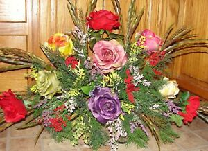 Mama-hija-padre-hermano-abuelo-Memorial-Cementerio-Tumba-Flores-de-silla-de-montar