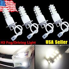 4x H3 3528 25 SMD Xenon White LED Bulbs Car Fog Driving DRL Light Lamps 12V
