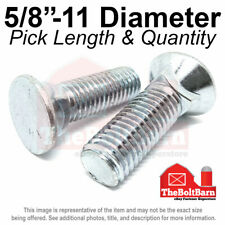 58 11 3 Flat Round Head Grade 5 Plow Bolts Zinc Coarse Pick Length Amp Qty