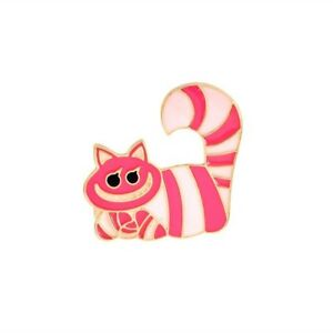 Alice-In-Wonderland-Cheshire-Cat-Enamel-Lapel-Pin-Badge-Brooch-BNWT-NEW-Gift