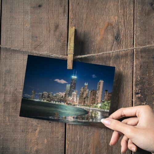 "Chicago Illinois Willis Tower Small Photograph 6/""x4/"" Art Print Photo Gift #12389"