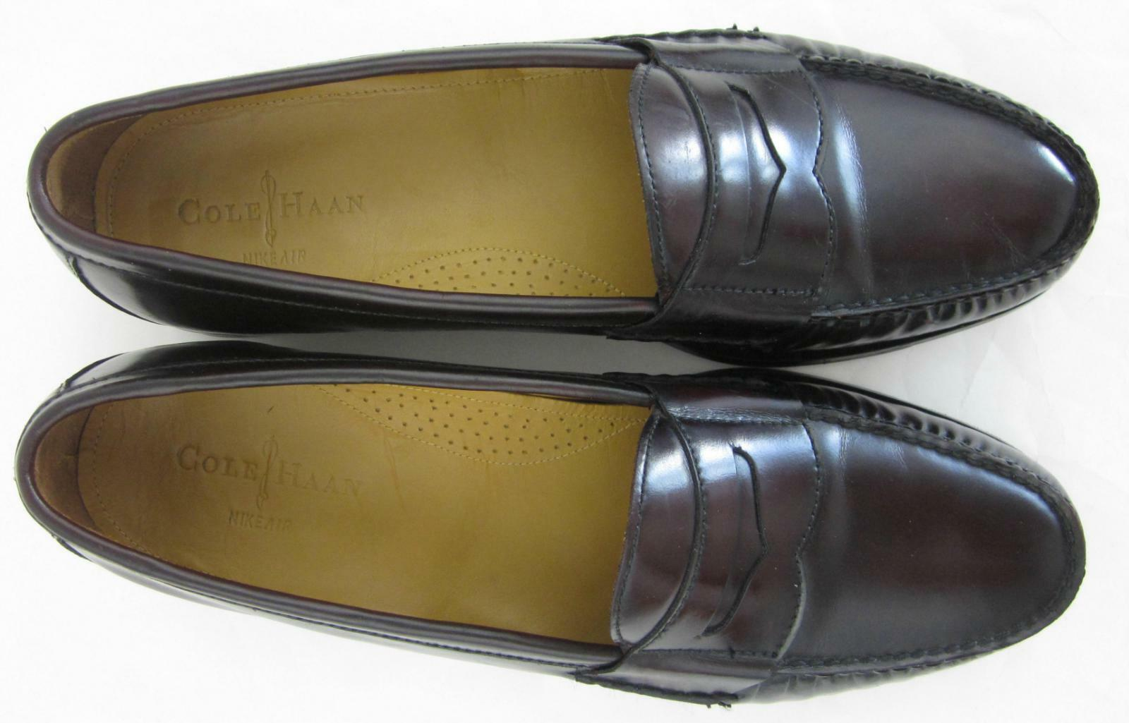 Cole Haan Air Air Air Pinch Penny Loafers Mahogany Leather US 13M 986743