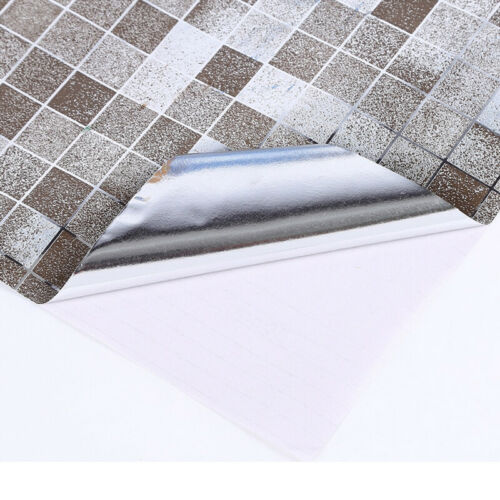 Mosaic Stick On Self Adhesive Wall Tile Stickers Anti Oil Home Kitchen /&Bathroom