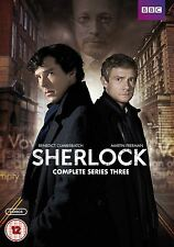 BBC Sherlock Complete Series 3 DVD 2 Disc Box Set PAL Region 2 + 4 New Sealed