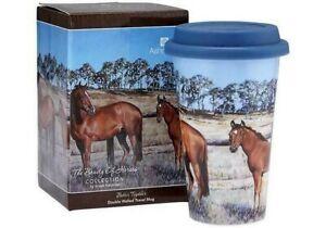 BEAUTY OF HORSES ~BETTER TOGETHER TRAVEL MUG ~ASHDENE ~ NEW ~ GIFT BOXED.