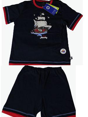 Schiesser Jungen Schlafanzug Pyjama Kurz, Dunkelblau Capt´n Sharky
