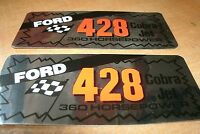 Ford 428cj 428 Cobra Jet 360 Horsepower Valve Cover Decals Shelby Mustang Fairla