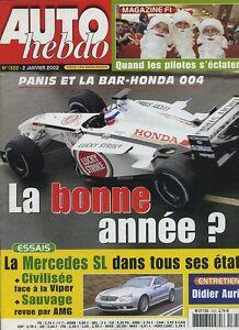 AUTO-HEBDO-n-1322-du-2-Janvier-2002-MERCEDES-SL55-AMG-MERCEDES-SL500-VIPER-GTS