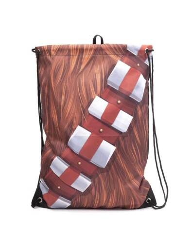 OFFICIAL STAR WARS CHEWBACCA COSTUME STYLED DRAWSTRING SPORTS// GYM BAG
