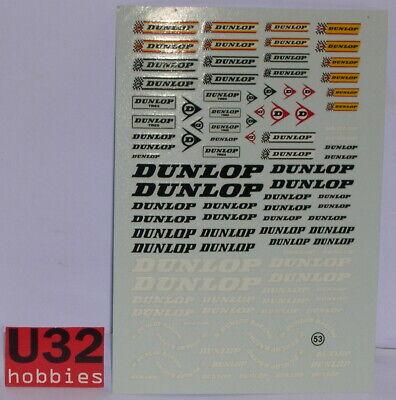 Virage Vir-0053 Calca Reifen Dunlop 1/24 Up-To-Date Styling Elektrisches Spielzeug
