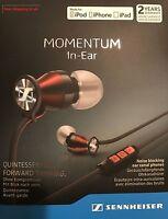 Sennheiser M2IEi  Momentum In Ear Headphones for Apple iOS Smartphones Red UK