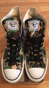 A-BATHING-APE-BAPE-x-STUSSY-Collabo-APESTA-Hi-Camo-Green-Sneaker-Size-US9-Rare