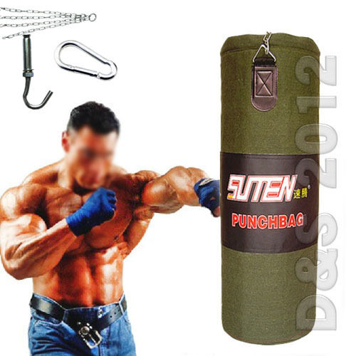 Thick Canvas Boxing Martial Art Punching Fitness Sandbag Bag 60/70/80/90cm
