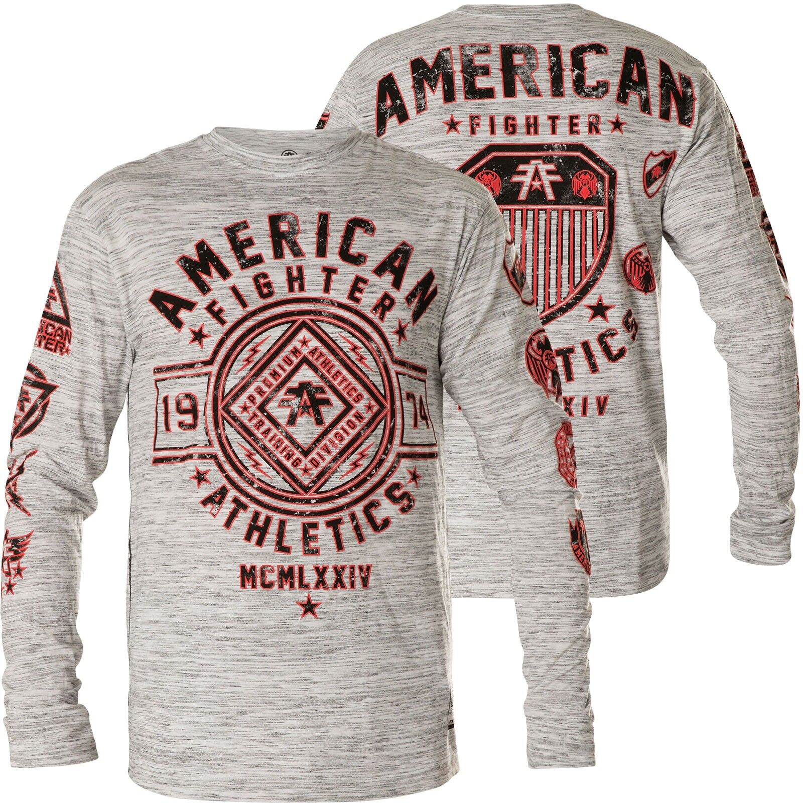 American Fighter by Affliction Thermal Chestnut Hill Light Grey