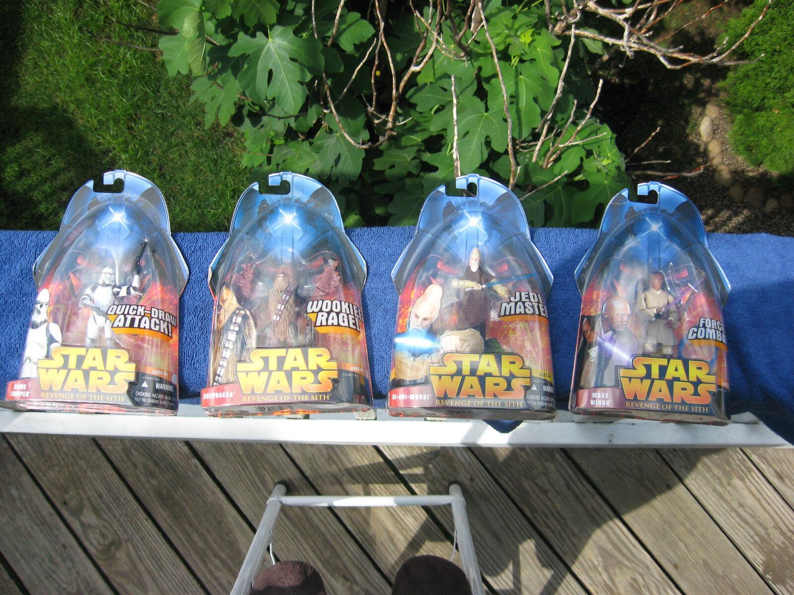 Lote De 4 Star Wars La Venganza De Los Sith Figuras De Acción  nuevo