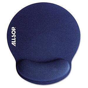 Allsop-MousePad-Pro-Memory-Foam-Mouse-Pad-with-Wrist-Rest-9-x-10-x-1-Blue-30206