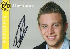 borussia Dortmund - 2007/2008 Phantasie Farben David Vrzogic Warnen Autogramm