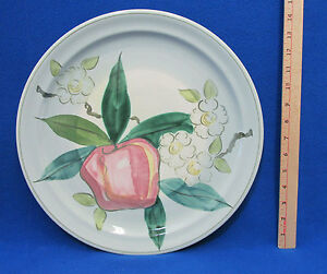 Image Is Loading Red Wing Hand Painted Pottery Plate Platter Normandy