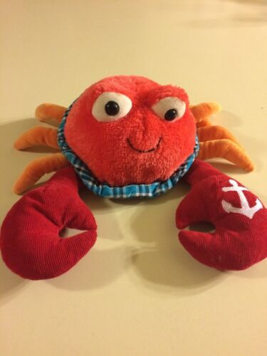 GUND Claude Crab Plush Stuffed Animal Down by the Sea Red Orange Anchor Toy