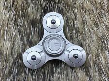 "WE KNIFE Fidget Tri Spinner Gray Titanium Hand Top Ceramic Ball Bearing 2"" S02C"