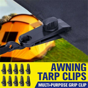 10x Reusable Tent Tarp Tarpaulin Clip Clamp Buckle Duty-New Heavy Camping H3O6