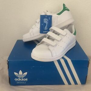 Adidas Originals Stan Smith Leather Sneakers Size K3 New In Box Free