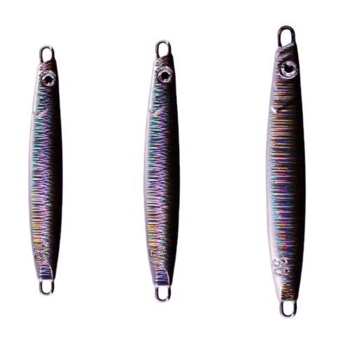 3x Bionic Fishing Jigs Metal Sea BassBaits Jigging Fishing Lure with 3D Eyes