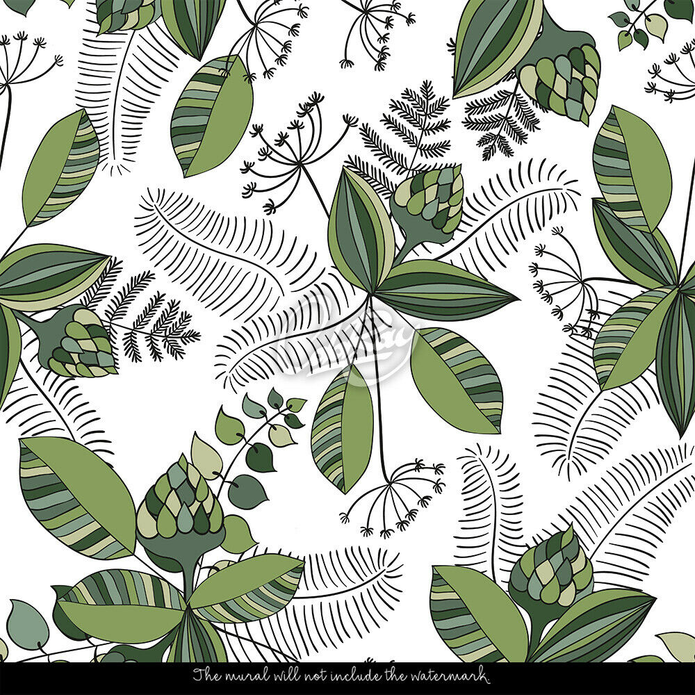 Jungle Vector Vector Vector Removable Botanical Soft Pattern